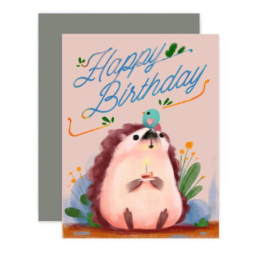 Hedgehog Birthday Card - Front & Company: Gift Store