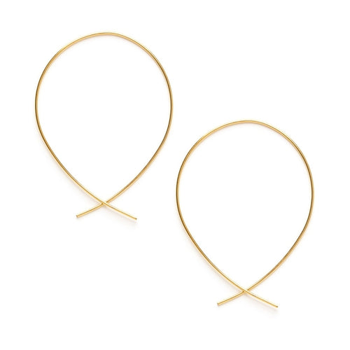 Teardrop Threader Hoops - Front & Company: Gift Store