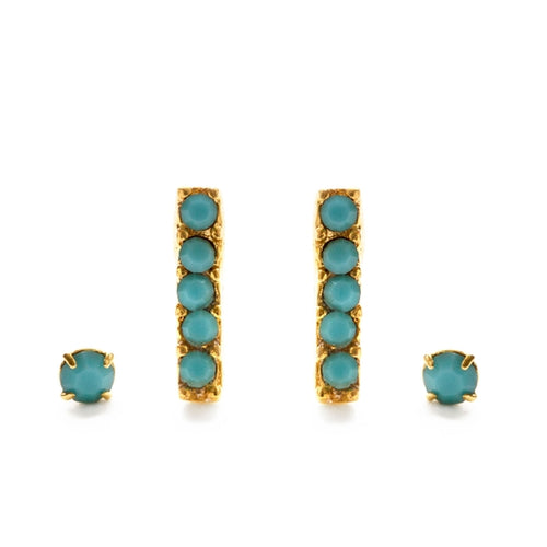 Victorian Bar Studs - Turquoise - Front & Company: Gift Store