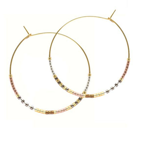 Japanese Seed Bead Hoops - Front & Company: Gift Store