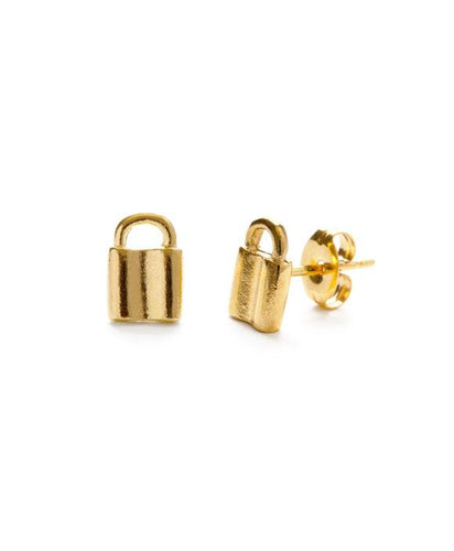 Tiny Padlock Stud Earrings - Front & Company: Gift Store