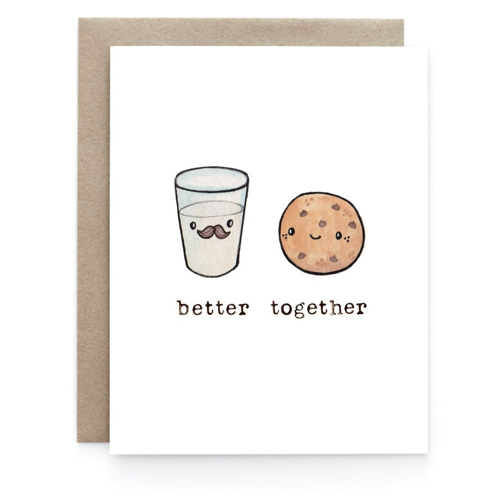 Wine + Cheese Love Greeting Card - Front and Company: Gifts