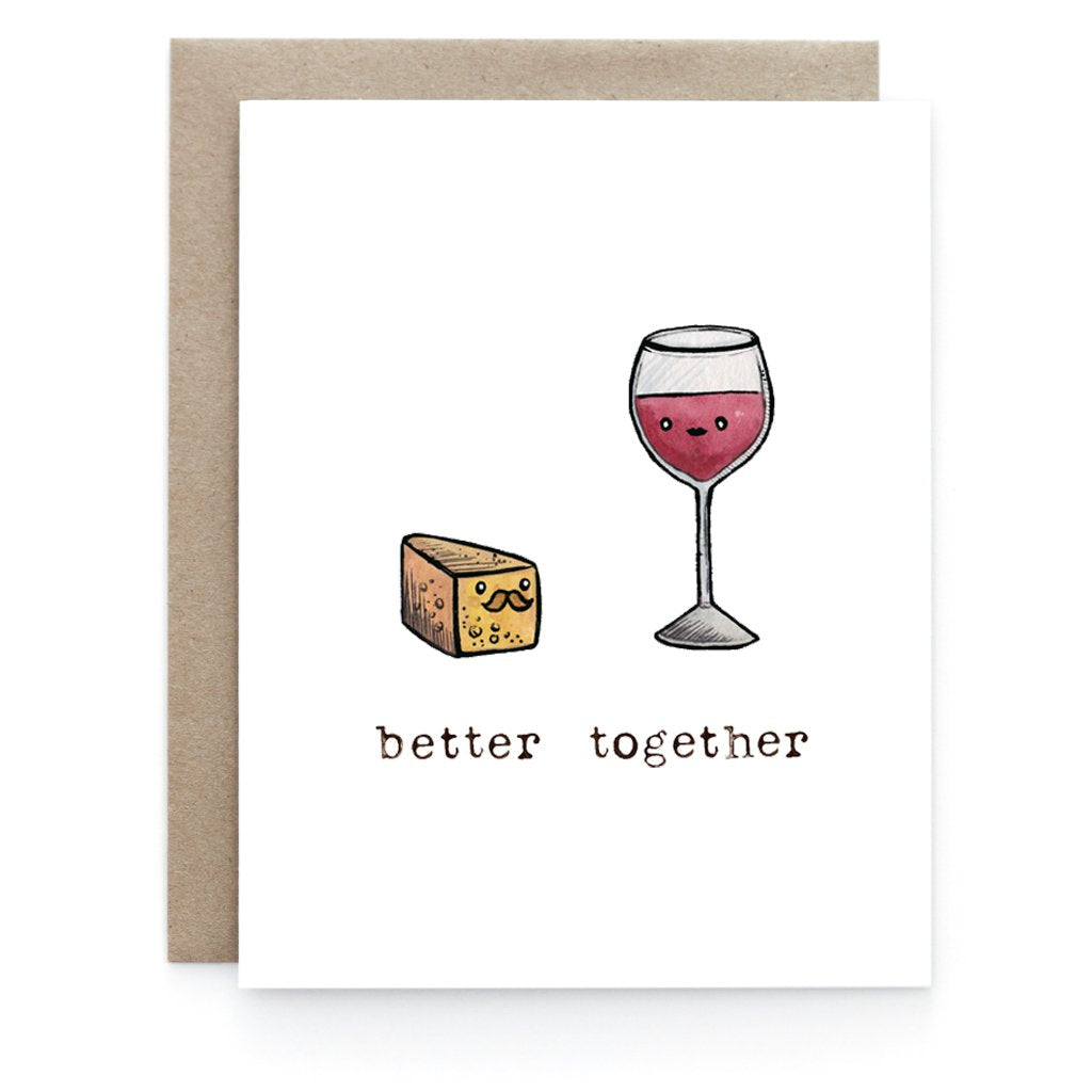 Milk + Cookie Love Greeting Card - Front and Company: Gifts