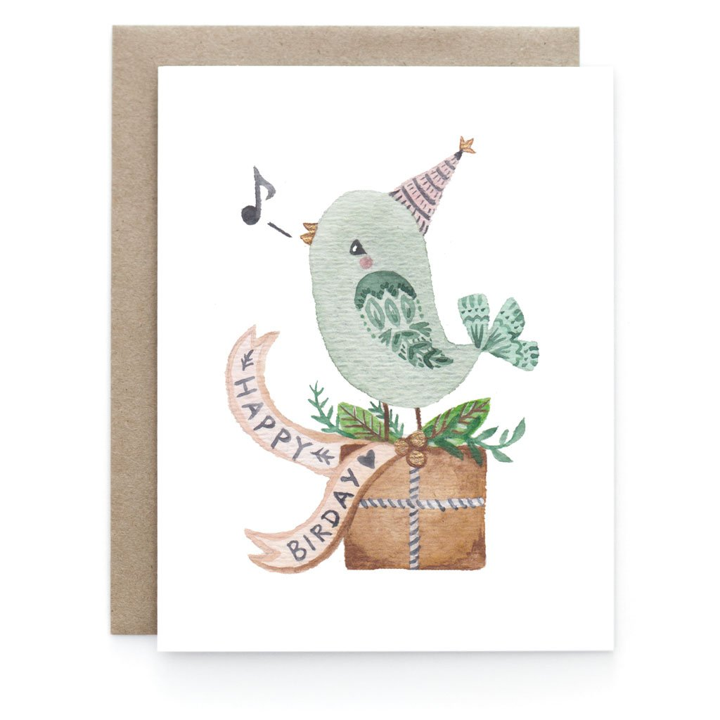 Happy Birday Birthday Greeting Card - Front and Company: Gifts