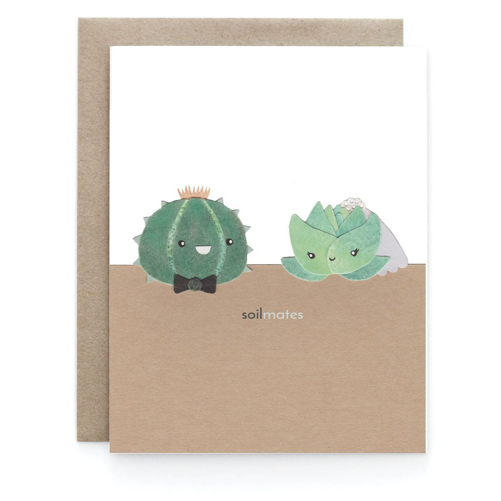 Soilmates Love Greeting Card - Front and Company: Gifts