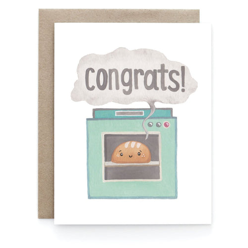 Bun in the Oven New Baby Greeting Card - Front & Company: Gift Store