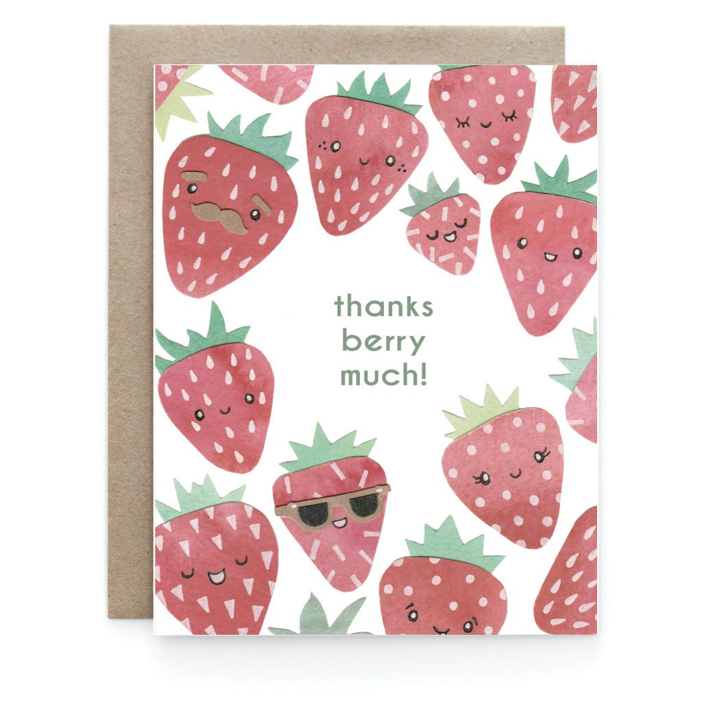 Berry Thank You Greeting Card - Front and Company: Gifts