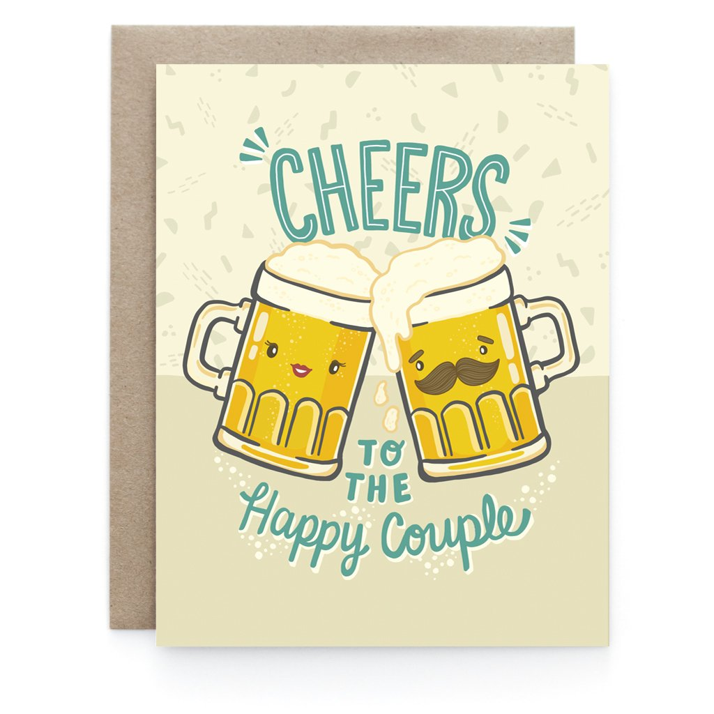 Cheers and Beers Wedding Greeting Card - Front and Company: Gifts