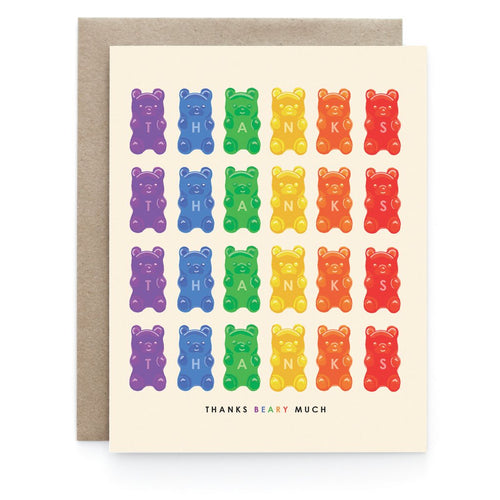 Gummy Bear Thank You Greeting Card - Front & Company: Gift Store