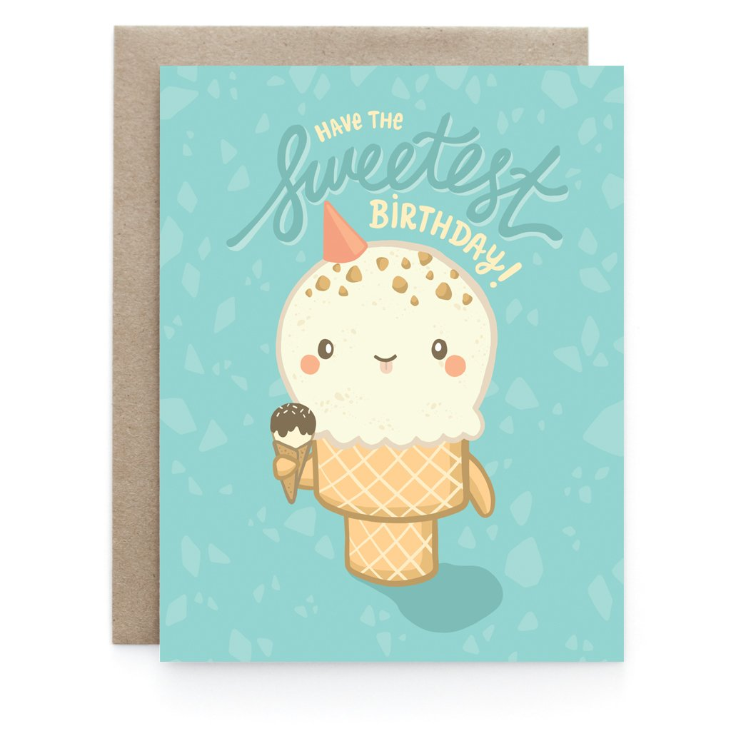 Sweetest Birthday Greeting Card - Front and Company: Gifts
