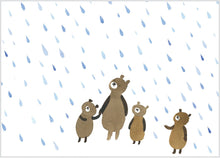 Load image into Gallery viewer, Bears in the Rain Birthday Card