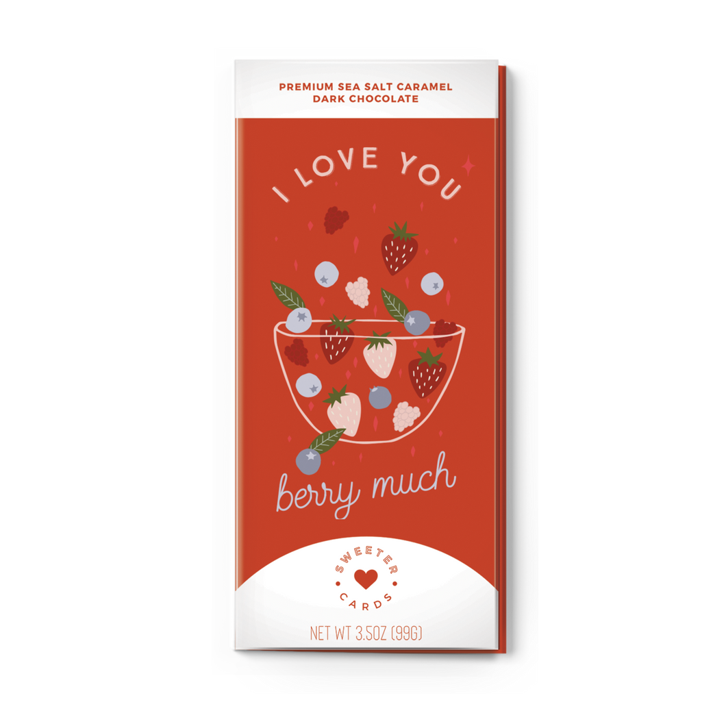 I Love You Berry Much Chocolate Bar & Card