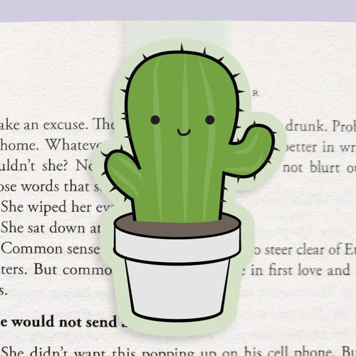 Cactus Magnetic Bookmark (Jumbo) - Front & Company: Gift Store
