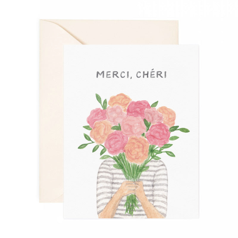 Merci Cheri Thank You Card