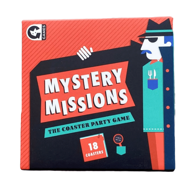 Mystery Missions Coaster Game - Front and Company: Gifts