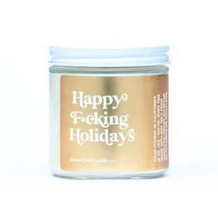 Happy F*cking Holidays Candle - Front & Company: Gift Store