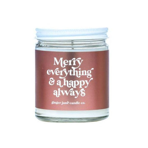 Merry Everything & A Happy Always Candle - Front & Company: Gift Store