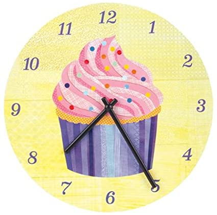 Mudpuppy Cupcake Wall Clock