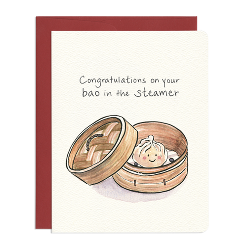 Baby Bao Congratulations Greeting Card - Front & Company: Gift Store