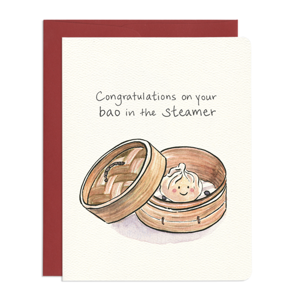 Baby Bao Congratulations Greeting Card - Front and Company: Gifts