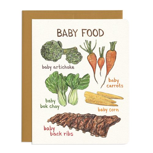 Baby Foods Greeting Card - Front & Company: Gift Store