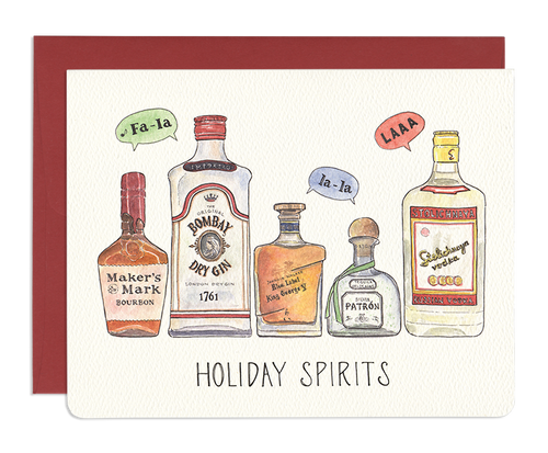 Holiday Spirits Greeting Card - Front & Company: Gift Store