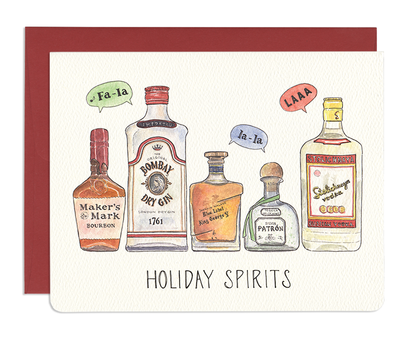 Holiday Spirits Greeting Card