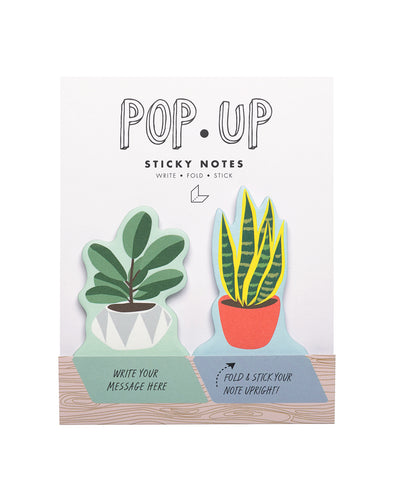 House Plant Pop Up Sticky Note - Front & Company: Gift Store