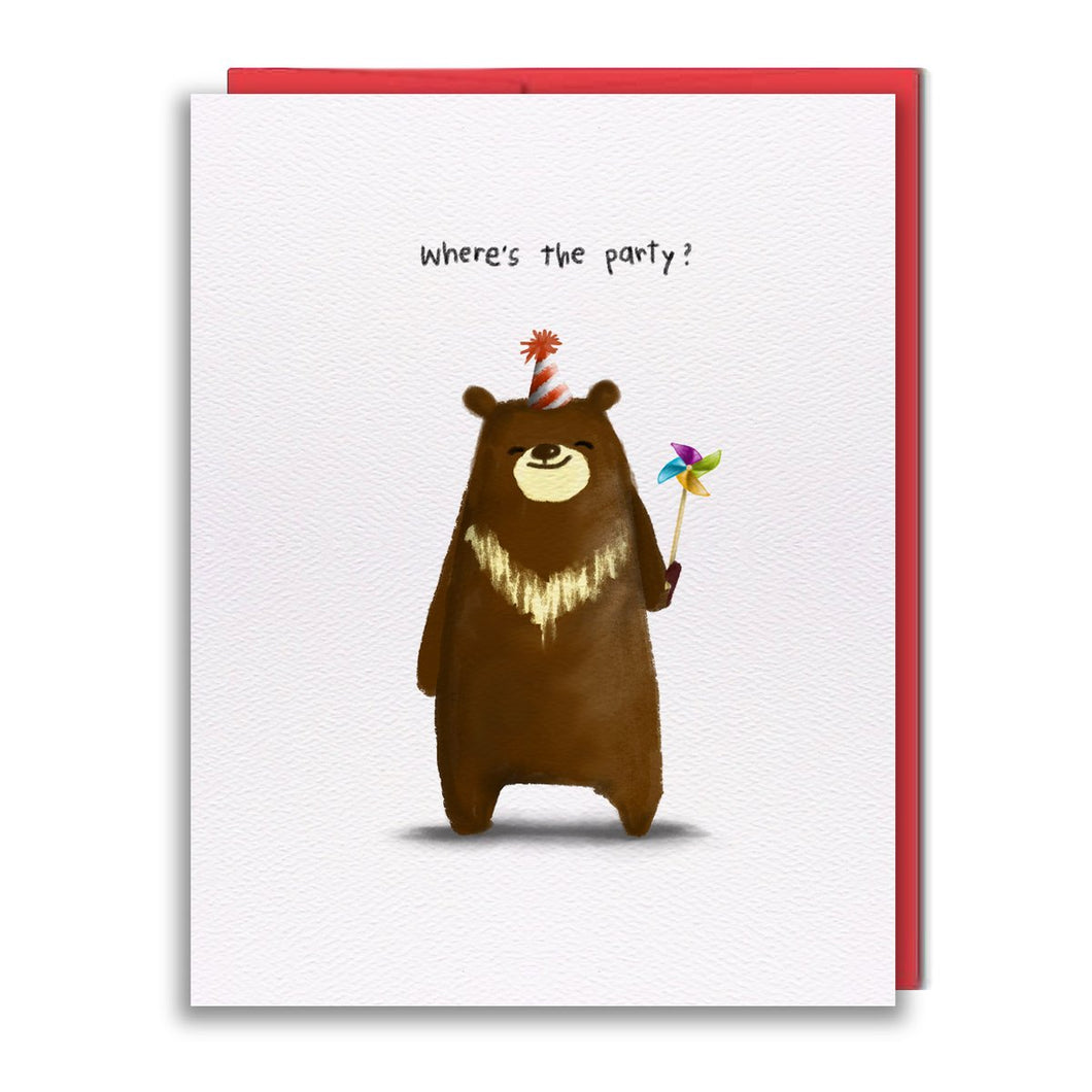 Pinwheel Bear Card