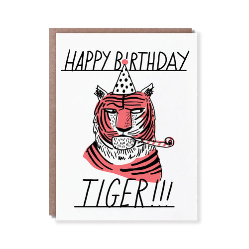 Tiger Side Eye Birthday Card - Front & Company: Gift Store
