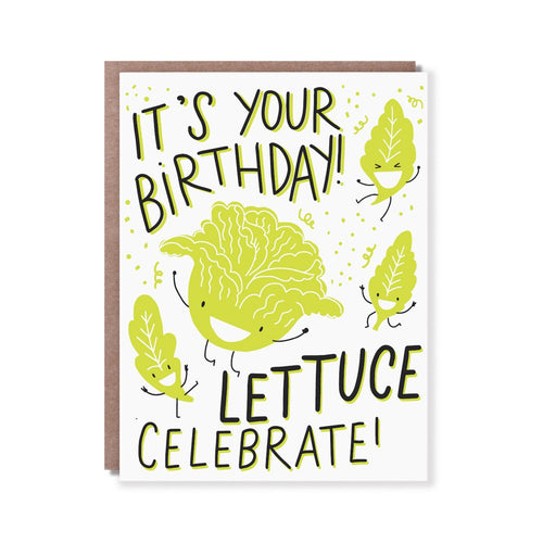 Lettuce Celebrate Birthday Card - Front & Company: Gift Store