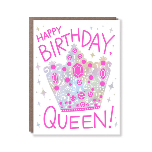 Birthday Queen Card - Front & Company: Gift Store