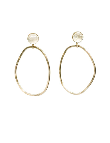 Asymmetry Moonstone 14k Gold Filled Earrings - Front & Company: Gift Store