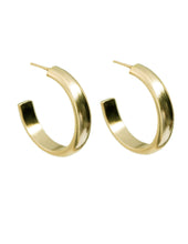 Load image into Gallery viewer, Basin 14k Hoop Earrings - Front and Company: Gifts