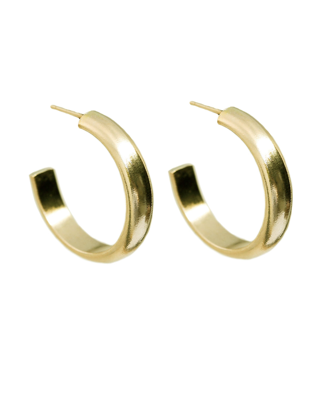 Basin 14k Hoop Earrings - Front and Company: Gifts