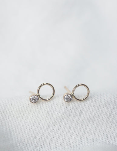 Linden Sterling Silver Stud Earrings - Front & Company: Gift Store