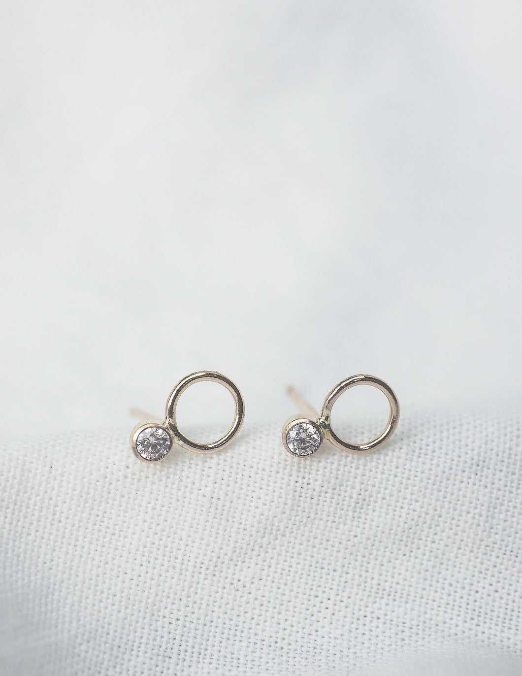 Linden Sterling Silver Stud Earrings - Front and Company: Gifts