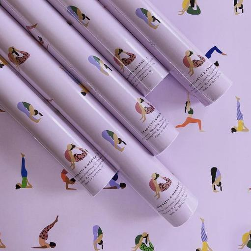Purple Yoga Wrapping Paper