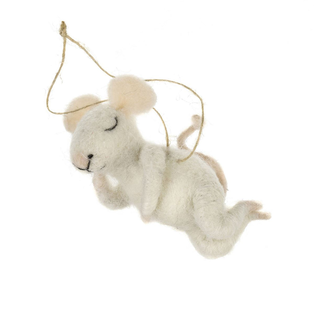 Snoozing Sid Mouse Ornament