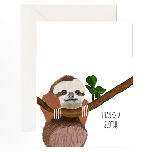 Thanks A Sloth Card - Front & Company: Gift Store