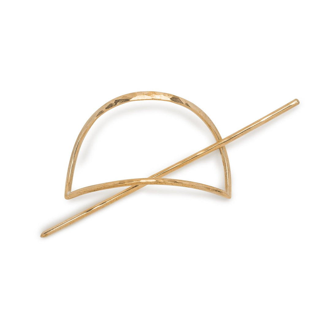 Half Moon Brass Hair Pin