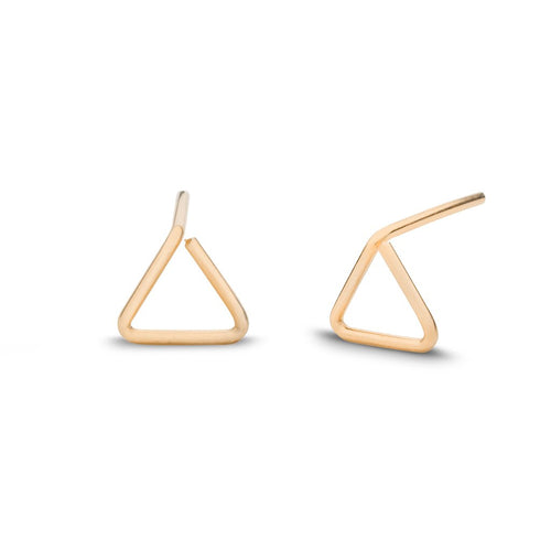 Triangle Stud Earrings - Front & Company: Gift Store