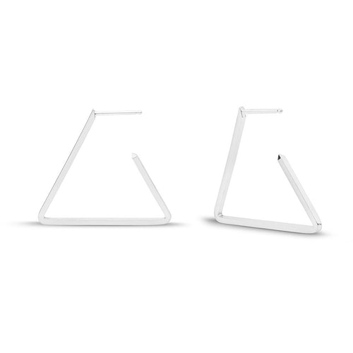 Triangle Hoops Earrings - Front & Company: Gift Store