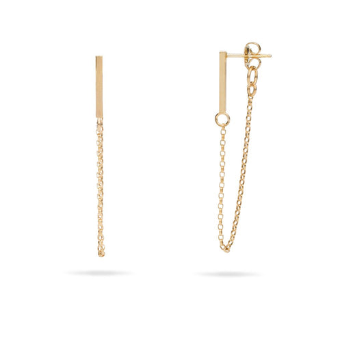 Bar Chain Earrings - Front & Company: Gift Store