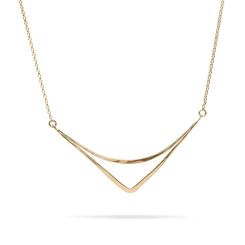 Sterling Silver Arc Necklace