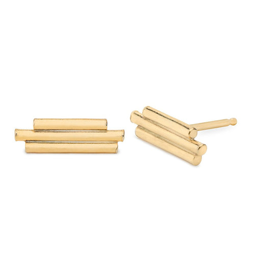 Three Sticks Stud Earrings - Front & Company: Gift Store