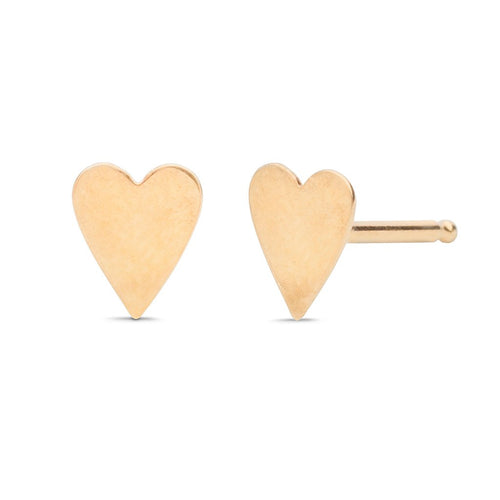 Heart Disk Stud Earrings - Front & Company: Gift Store
