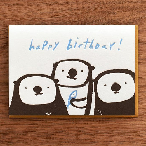 Three Otters Birthday Card - Front & Company: Gift Store