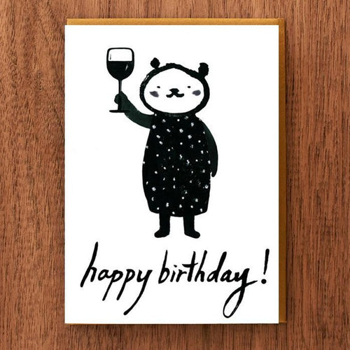 Wine Toast Birthday Card - Front & Company: Gift Store