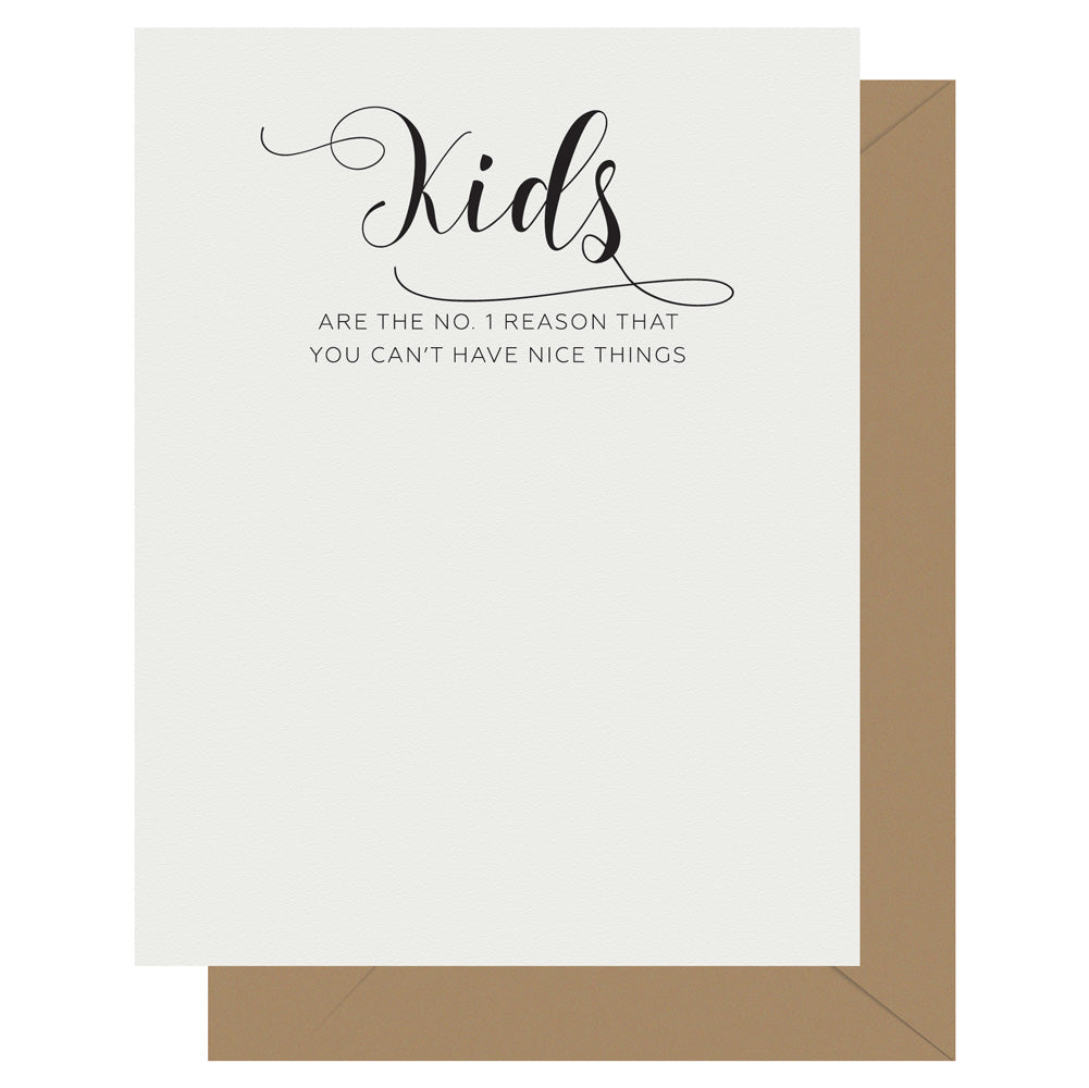 Kids Crass Calligraphy Greeting Card